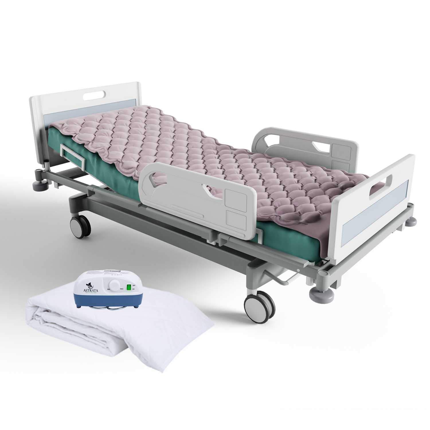 Alternating Pressure Mattress Include Electric Air Pump and Inflatable Mattress Pads with Bed Cover - Prevent Pressure Ulcer - Sore Treatment - Colchon Antiescaras - Fit Medical Hospital Bed