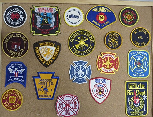 PENNSYLVANIA FIRE/RESCUE DEPARTMENT PATCHES! SET ONE! LOT OF 19!