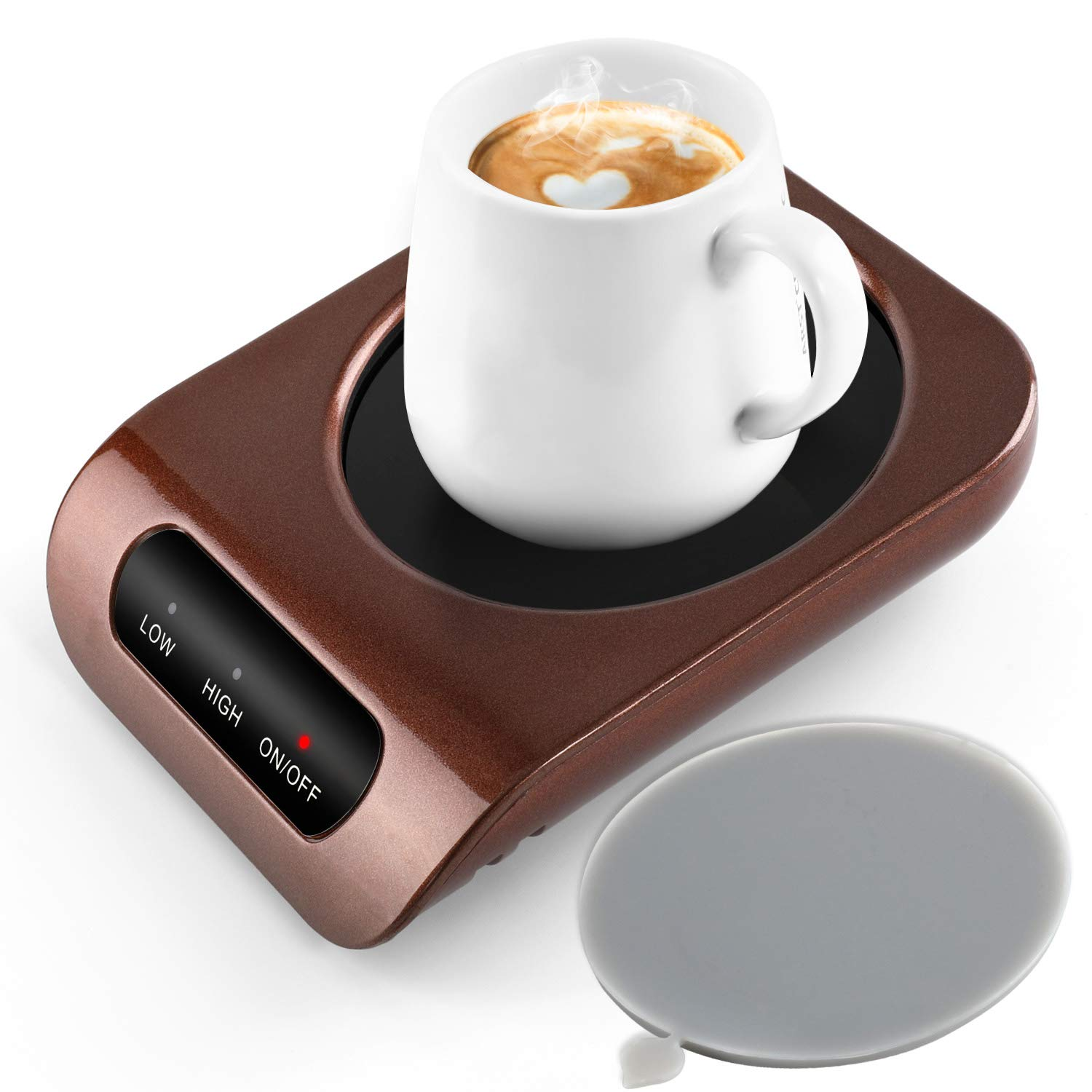 MENGMAOMAO Coffee Mug Warmer - Desktop Beverage Warmer - Electric Cup Warmer Tea Water Cocoa Milk for Office Desk and Home Use 110V 35W Best Gift for Coffee Lovers with Automatic Shut Off Function by Jingteda by MENGMAOMAO