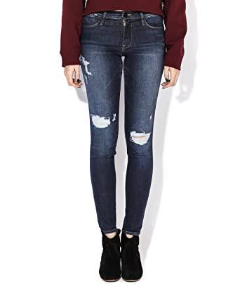 Frame Denim Le High Skinny Ripped Skinny Jeans at Amazon Women\'s ...
