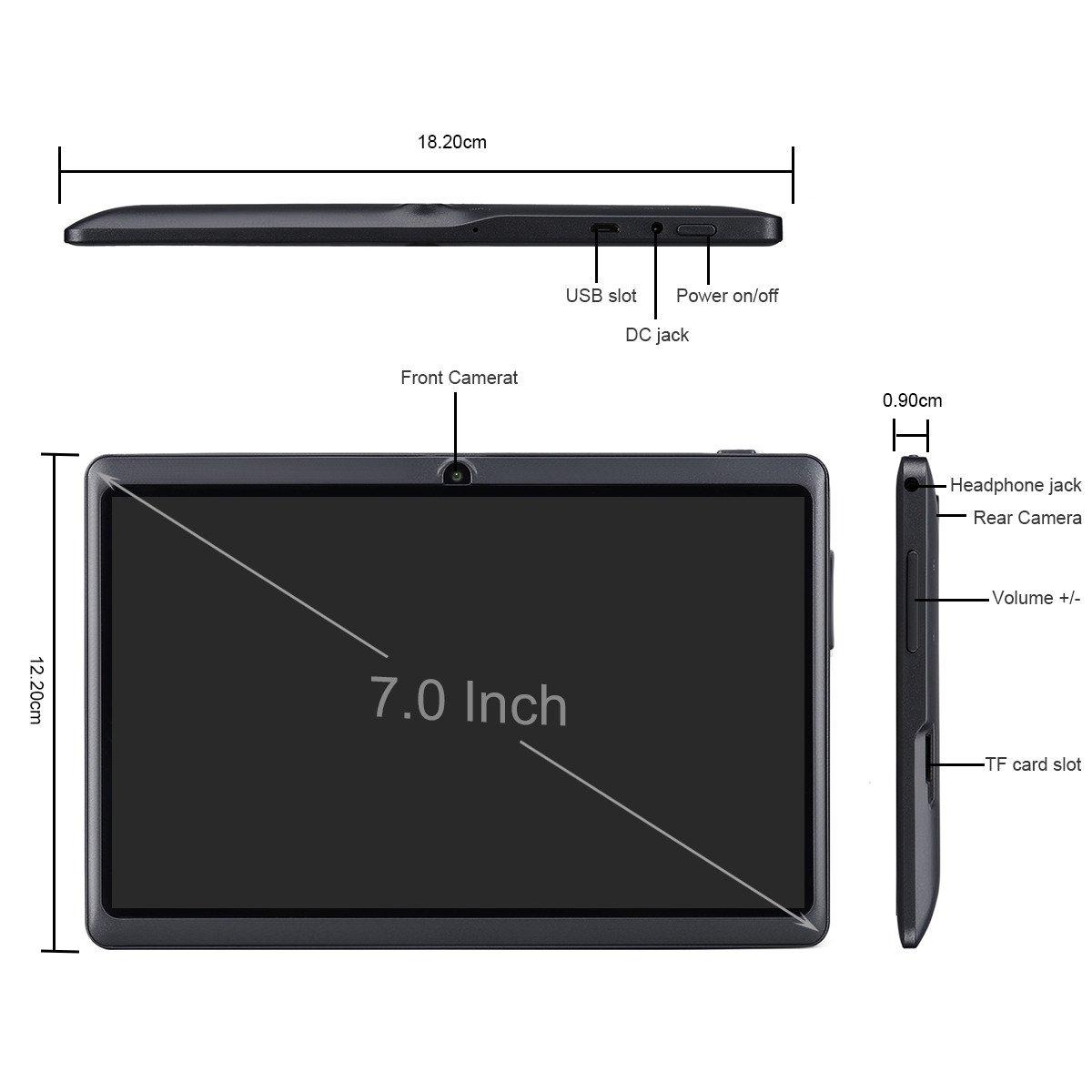 Ainol Q88 Android 7.1 RK3126C Quad Core 1GB+16GB 0.3MP+0.3MP Cam WiFi 2800Ah Tablet PC--Pink by Ainol Q88 (Image #5)