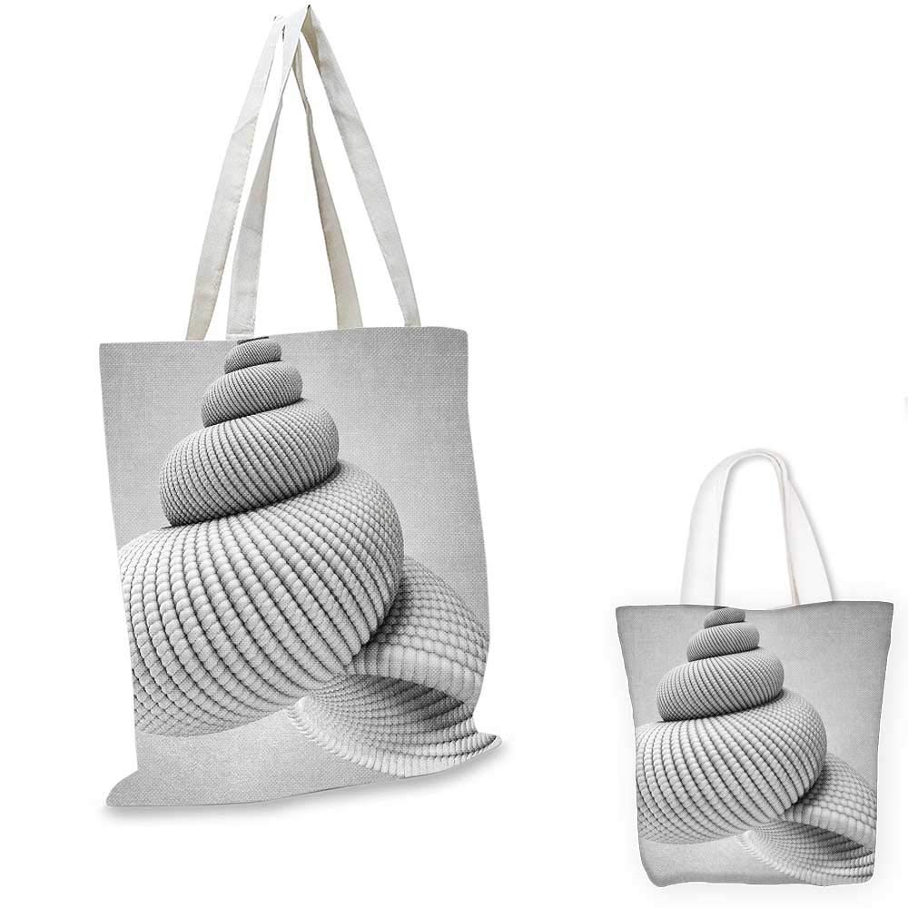 Spires canvas messenger bag Shell Shaped Form with Chamber Arranged in Geometric Abstract Spirals Macro Model Image canvas beach bag White 14x16-11