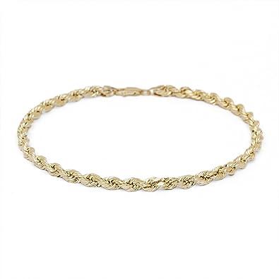 Fine Jewelry Womens 10K Gold Chain Bracelet E948FUY