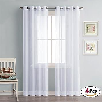 PONYDANCE Voilages Rideaux Décoration de Fenêtre (140 Largeur sur ...
