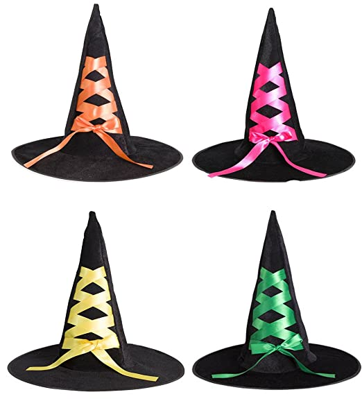 amazoncom halloween bowknot spider witch hatshalloween props 2pcs 4pcs clothing