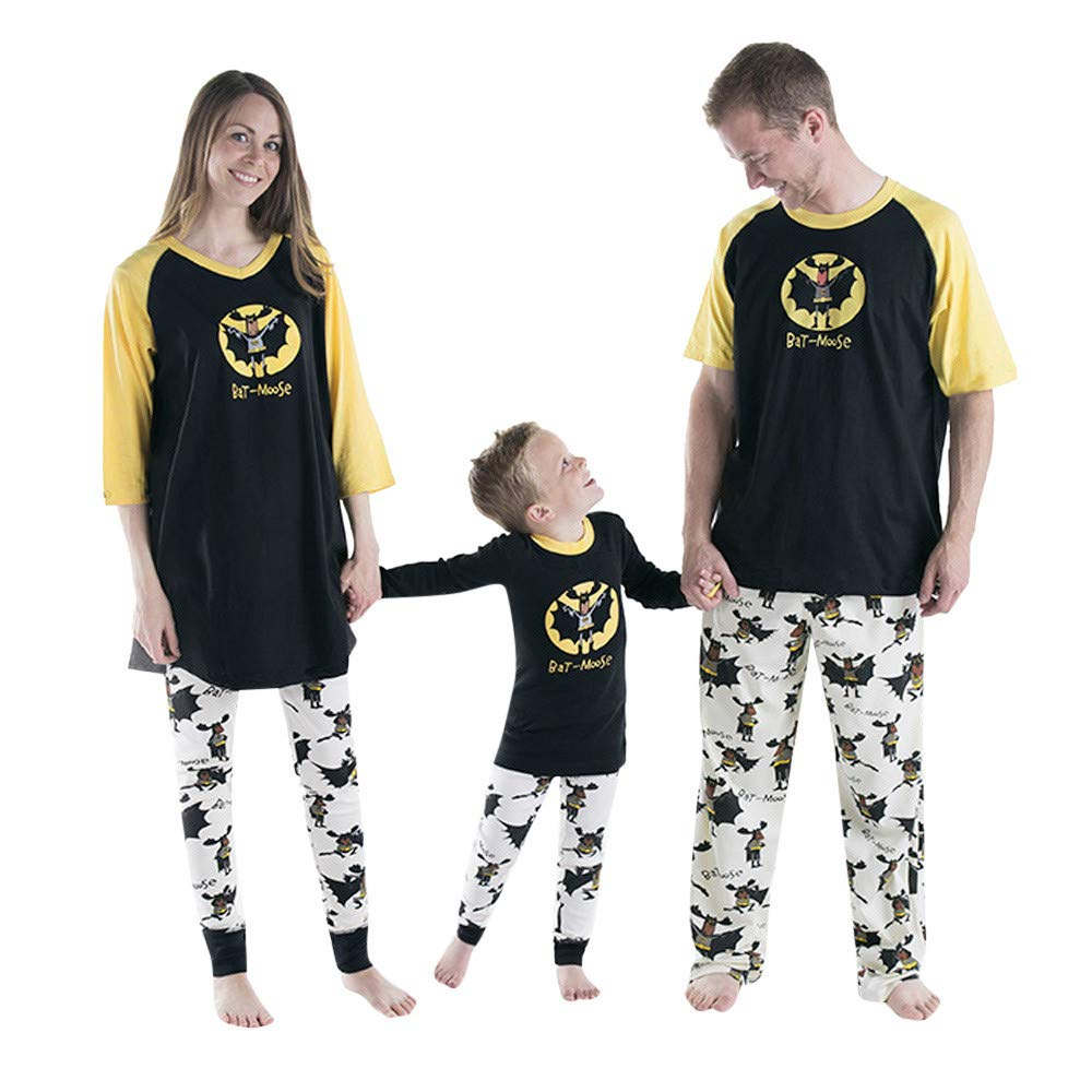 Felicy Family Matching Pajamas Set Women Men Kids Baby T Shirt Tops Blouse Pants Sleepwear Outfits Halloween Clothes Best Gifts