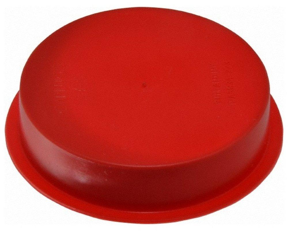 Press Fit Plug, 2 NPT OD, Polyethylene, Red 100 Pack