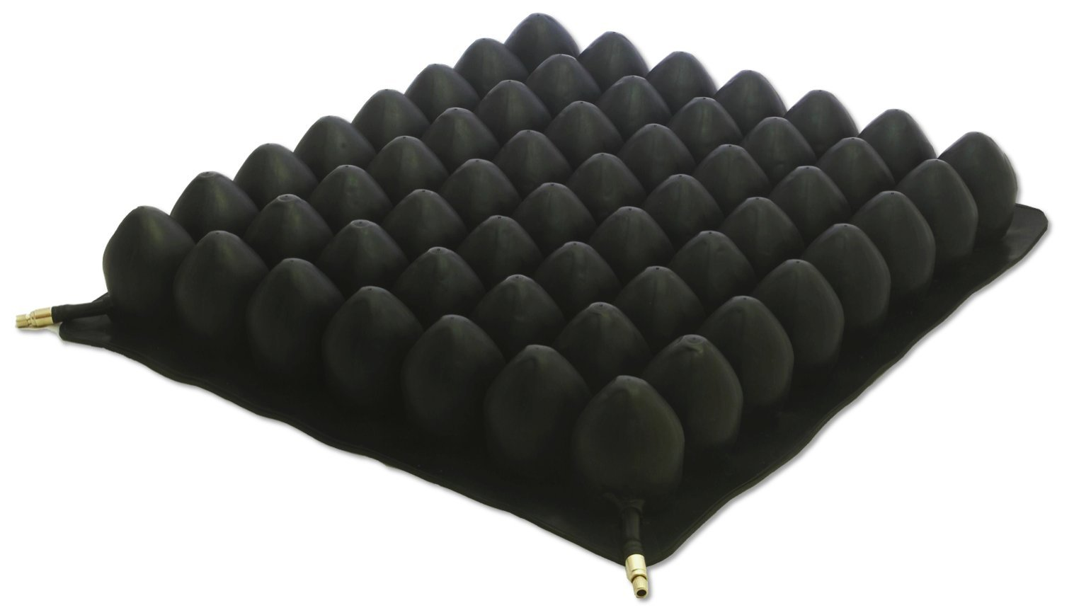 Wheelchair Cushion Air Seat Cushion Comfort Seat Cushion for Pressure Relief Prevent Bedsores Two Inflate Sections 7x8 Cells Made of Neoprene Breeze Style Inflatable plus Durable Chair Pad