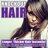 Fits like a Halo/Secret Hair Extensions 20 - 150 Grams - 100% Premium Fiber Wavy Hair - Lifetime Warranty on the Miracle Wire - No Clips, No glue, No Tape, No Damage! It's so EASY! By Knockout Hair
