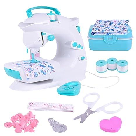 Per Juguetes de Máquina para Coser Mini Infantiles Kit de Juegos de Manualidad de Costura Juguetes