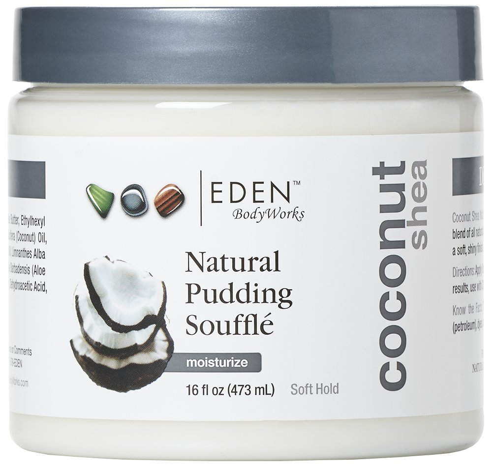 EDEN BodyWorks Coconut Shea Pudding Souffle |16 oz | Refresh & Moisturize Curls, Soft Hold, Add Shine - Packaging May Vary