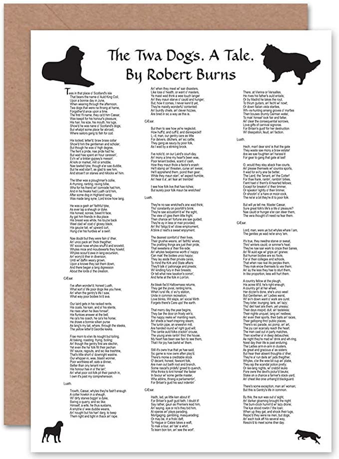 Amazon Com Wee Blue Coo Robert Burns Poem Lyrics The Twa Dogs
