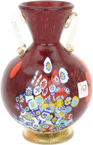 GlassOfVenice Murano Glass Millefiori Vase