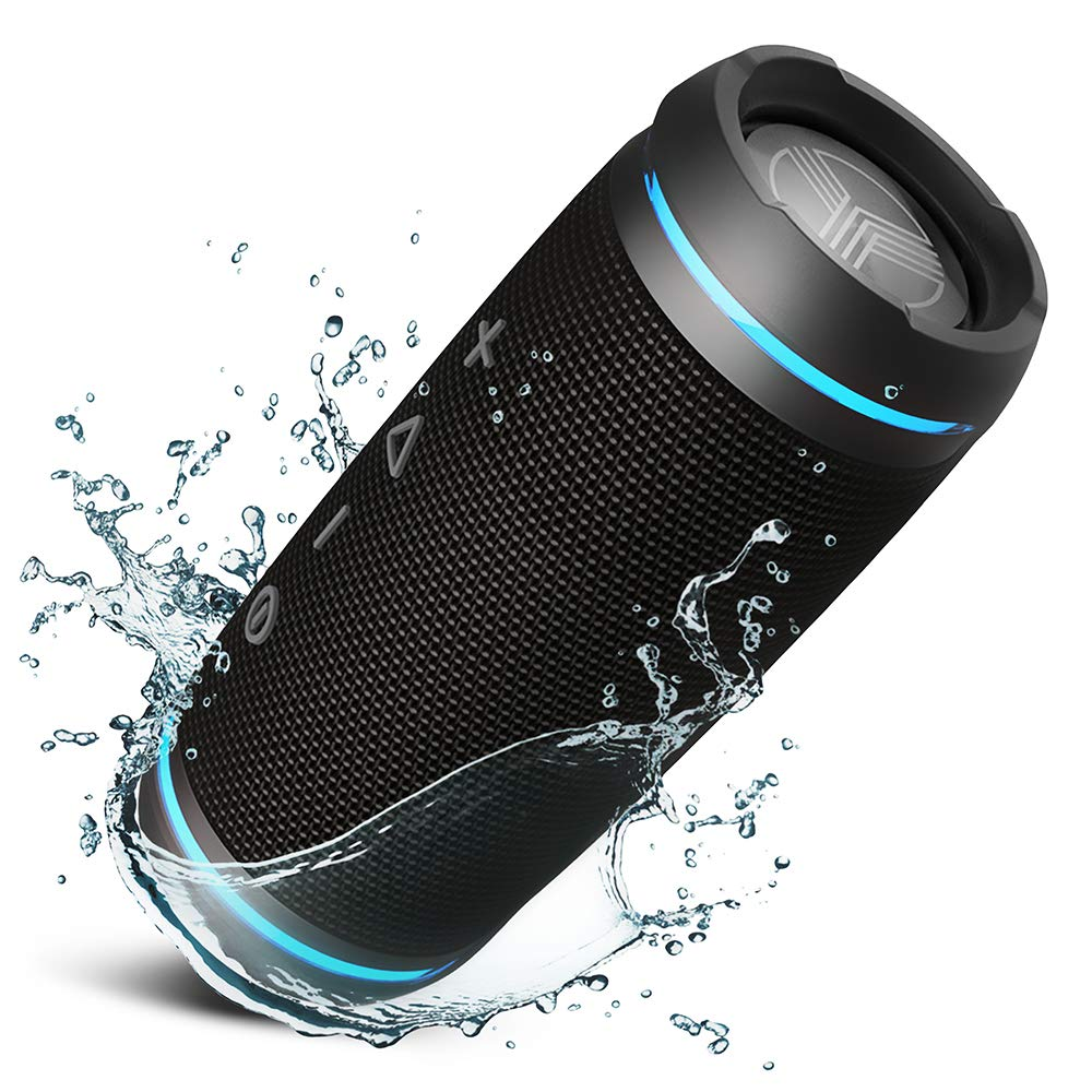 TREBLAB HD77 - Ultra Premium Bluetooth Speaker - Loud 360° HD Surround Sound, Wireless Dual Pairing, Best 25W Stereo, Loudest Bass, 20H Battery, IPX6 Waterproof, Sports Outdoor, Portable Blue Tooth by Treblab (Image #1)