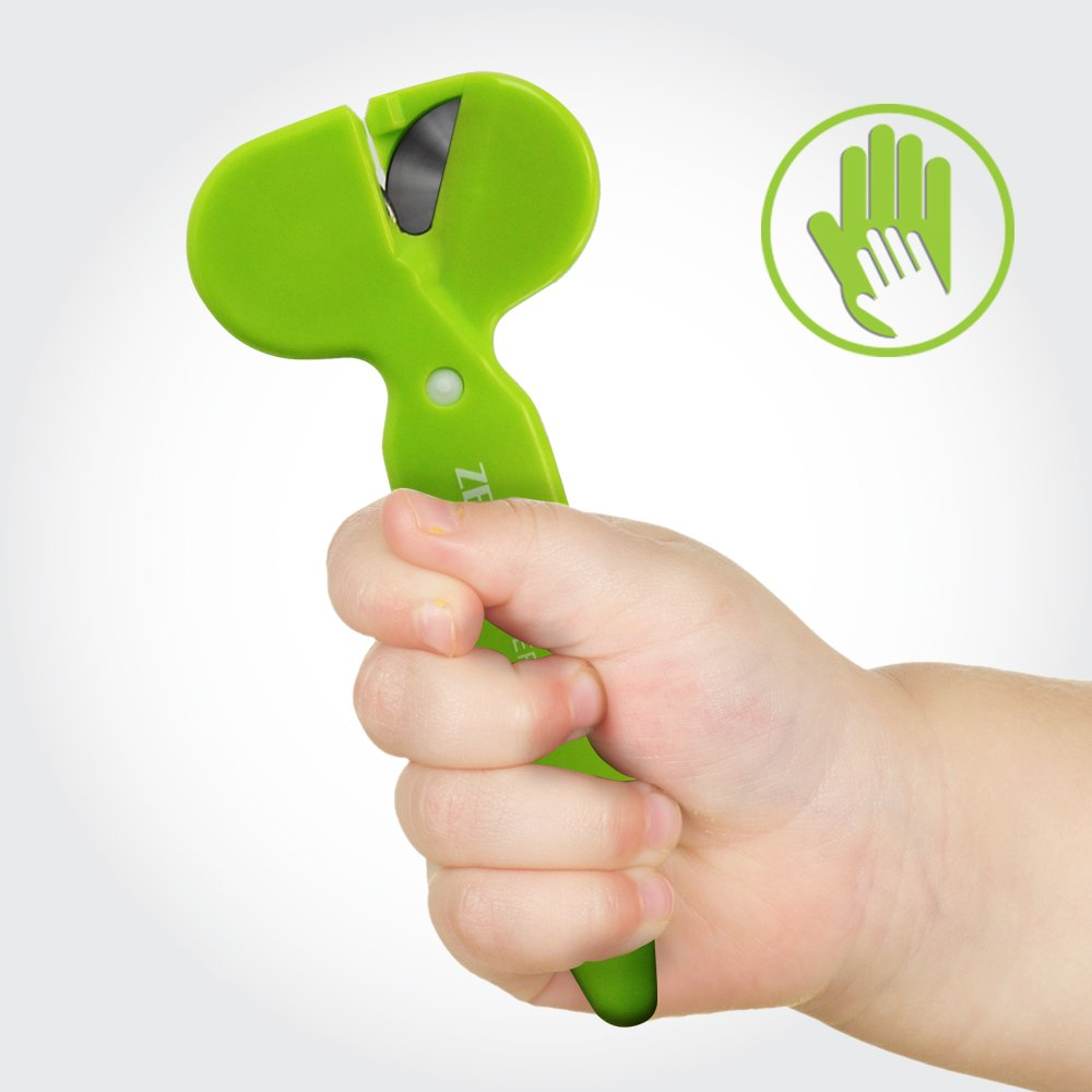 Kids Safety Scissors, Rotating Blades, Blunt Tip with Soft Handle by Eutuxia [Zero Cutter R2]