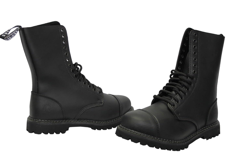 Amoladoras Herald CS Derby botas negras Unisex estilo Casual de alta calidad 14 orificios Talla:MNS UK9/EU43 3mVNQl6