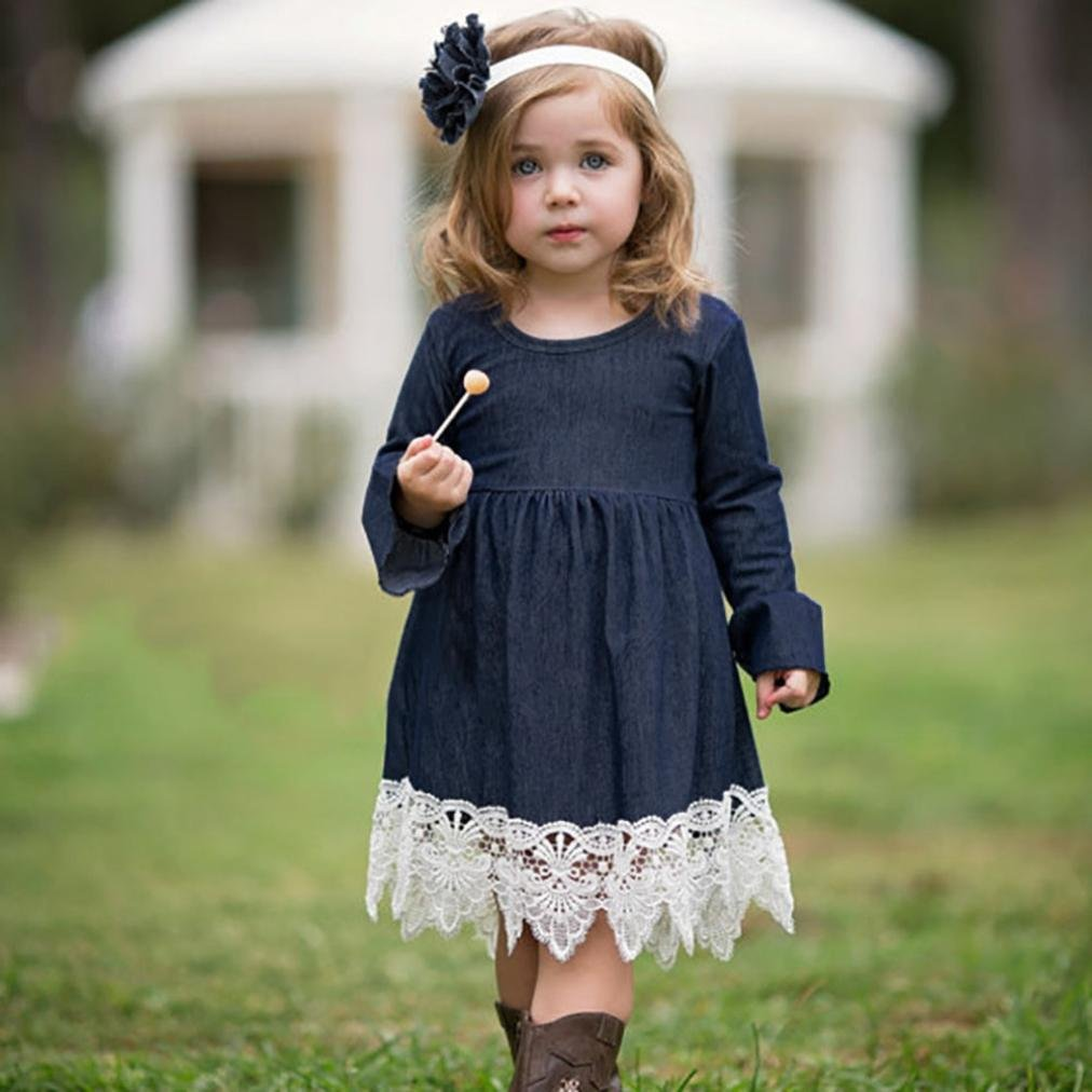 6440d38159c Amazon.com  Toddler Infant Baby Girls Denim Dress