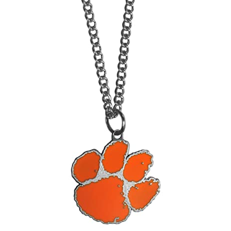 Amazon clemson tigers logo pendant chain necklace sports fan clemson tigers logo pendant chain necklace aloadofball