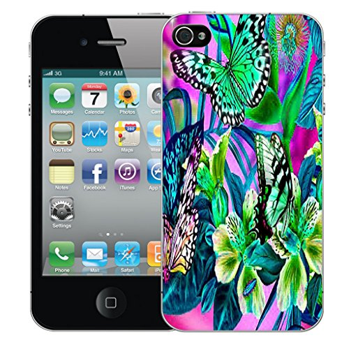 Mobile Case Mate iPhone 4s Silicone Coque couverture case cover Pare-chocs + STYLET - In The Garden pattern (SILICON)