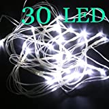 AA Battery White 30 LED String Fairy Party Decor Lights.