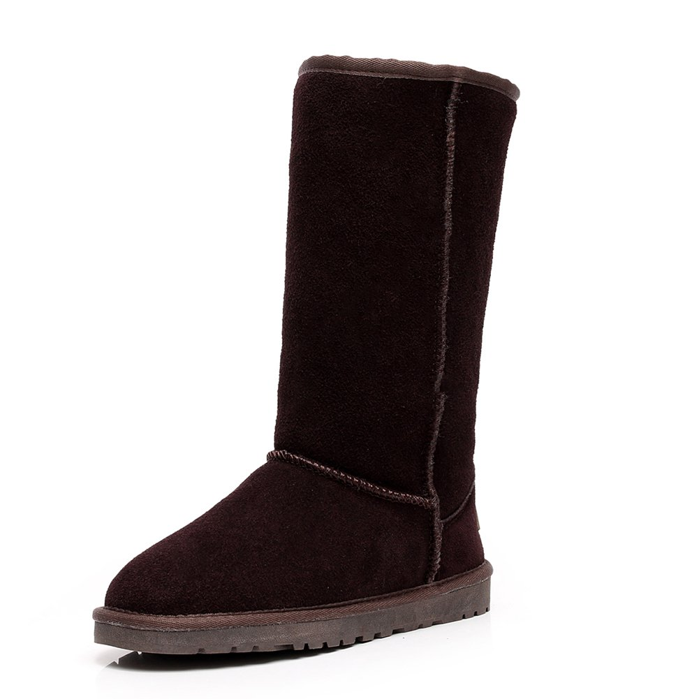 a2cd109f94f5 Galleon - Rismart Women Classic Mid-Calf Thermal Suede Snow Boots Thick  Faux Fur Lined Winter Boots Coffee SN1015 US11