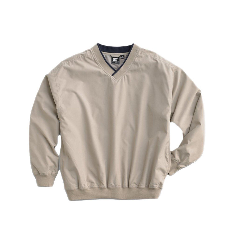 White Bear Men's Microfiber Windshirt, Large, Putty