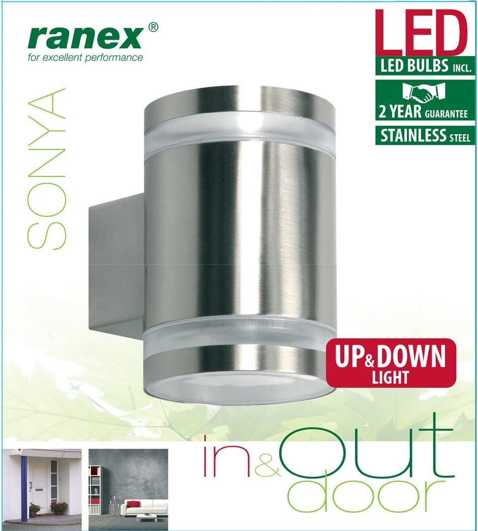 Ranex Sonya DEL Extérieur Lampe Murale éclairage Lampe murale Up /& Down
