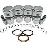 Diamond Power Pistons w/rings works with SUBURBAN 6.5L TURBO DIESEL OHV