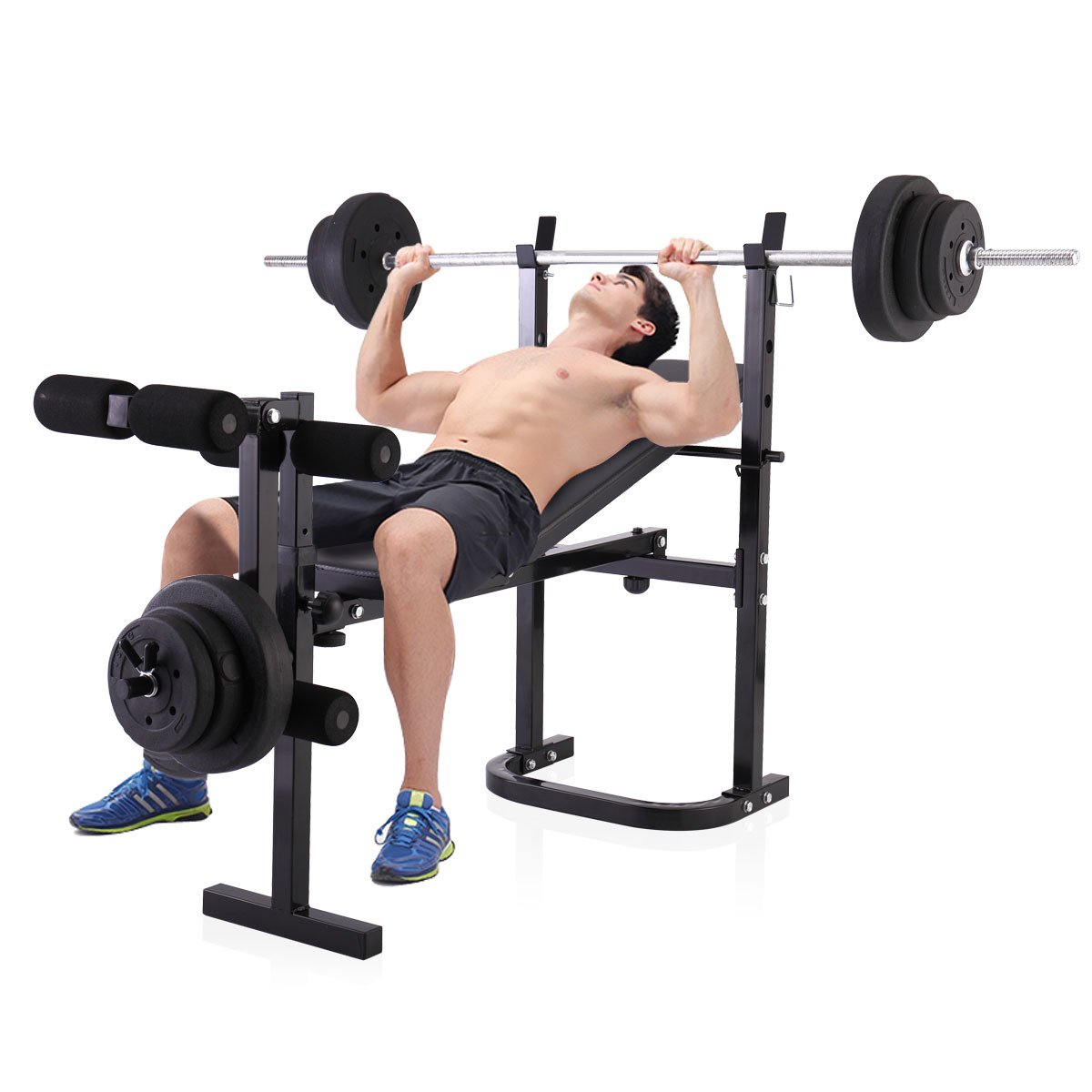 JAXPETY Adjustable Olympic Weight Bench with Leg lift Developer for Strength Training by JAXPETY