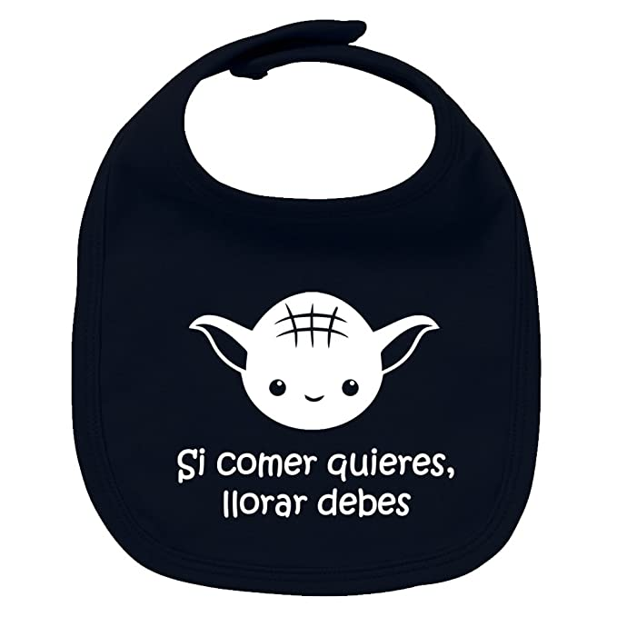 Babero de bebé Si comer quieres, llorar debes (Yoda/Star Wars ...