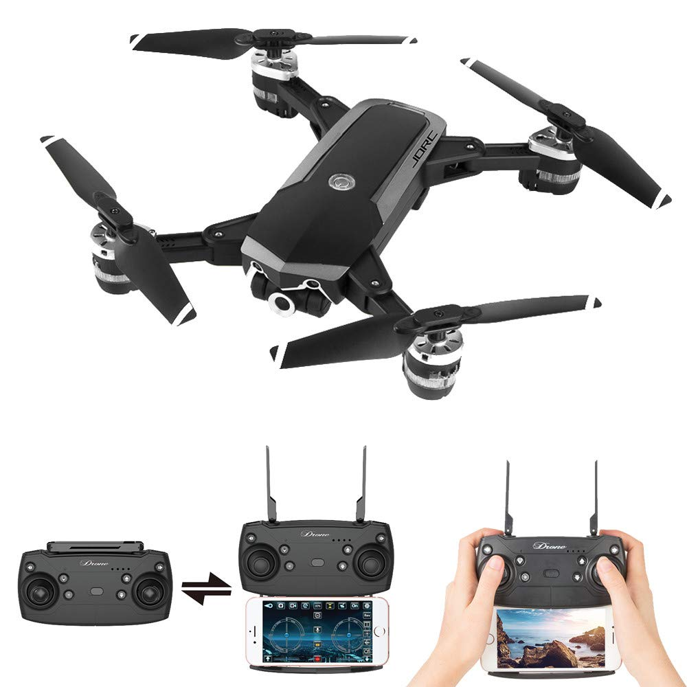Choosebuy 360 Degree Roll RC Drone with HD Camera, 0.3/2MP Wide Angle Camera FPV 2.4G/One Key Return/WiFi Control/Foldable Quadcopter/Outdoor Toy Gift for Beginners for Adults (A)