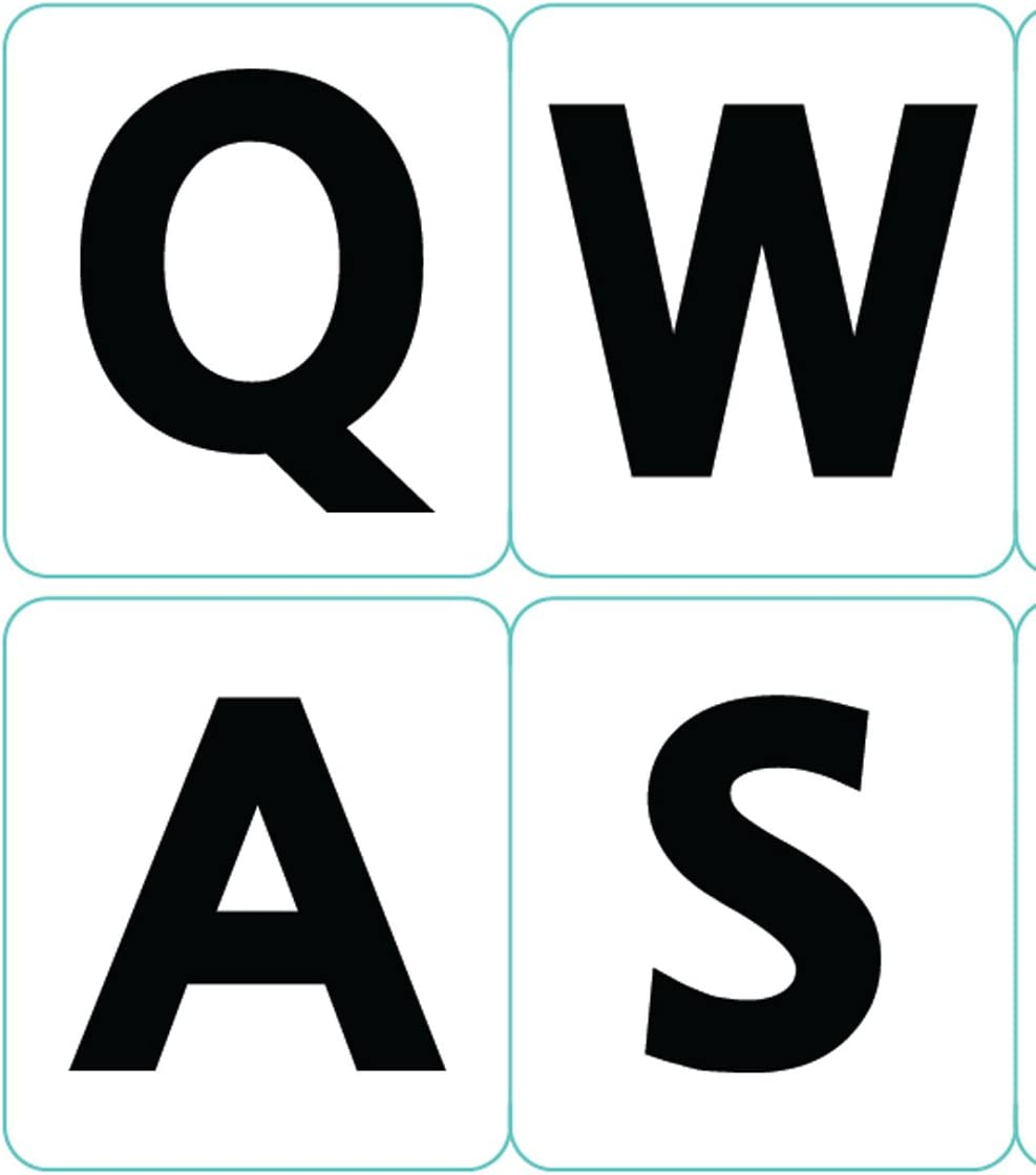 English Us Large Letter Lower case Keyboard Stickers Non Transparent White Background for All pc Desktop Computer Laptop