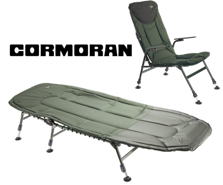 Cormoran Angelliege Stuhl Karpfenliege Angelstuhl Campingset 6-Bein Liege
