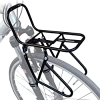 Front Pannier 15KG Capacity Rack High Strength Bike Front Rack 2 Installation Methods with Fixing Device