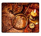 MSD Mousepad Vintage magnifying glass pocket watch compass - Best Reviews Guide
