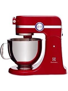 Electrolux EKM4000 Assistent-Robot de Cocina, 1000 W de Potencia, Color Rojo, 4.8 Liters, Acero…