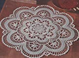 Vintage Crochet Pattern to make - Cluny Lace Centerpiece Doily. NOT a finished item. This is a pattern and/or instructions to make the item only.