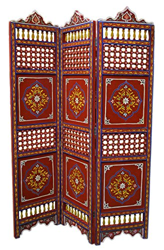 Handmade Moroccan Room Divider Wood Screen Partition Panel Wall Separation (Screen Seperation)