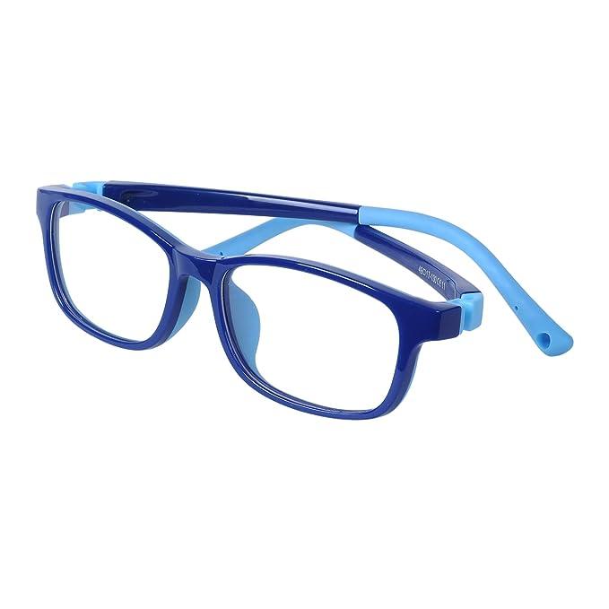 8587e25062 Gafas Ordenador Luz Azul - Bebé Niños y Niñas - Lentes Antireflejos Anti-radiación  - Diseño Antideslizante - TR90 Flexible Montura Ligero - Fundas: ...