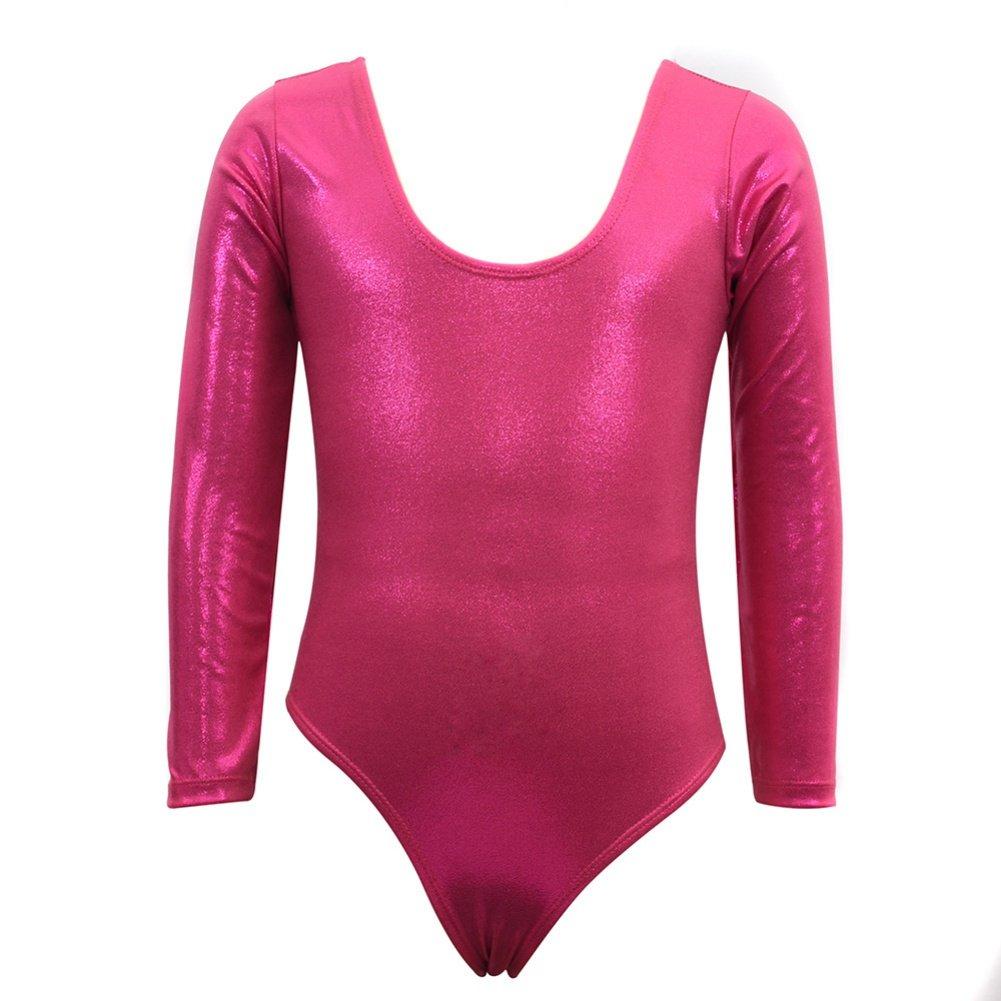 003ff896e Loveble Leotards for Kids Girls Gymnastics Long Sleeve Purple ...