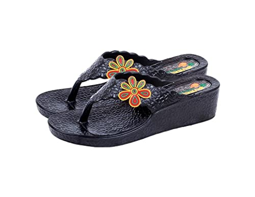 3ce86497f5b KAYSTAR Slippers for Women and Girl s Stylish Black Color Casual Slippers