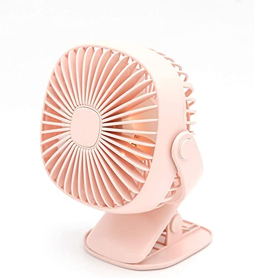 Air Cooling Fan Mobile Power USB Fan Mini Electric Fan Portable Desktop Office Dormitory Student Bed Fan Metal Color : Blue