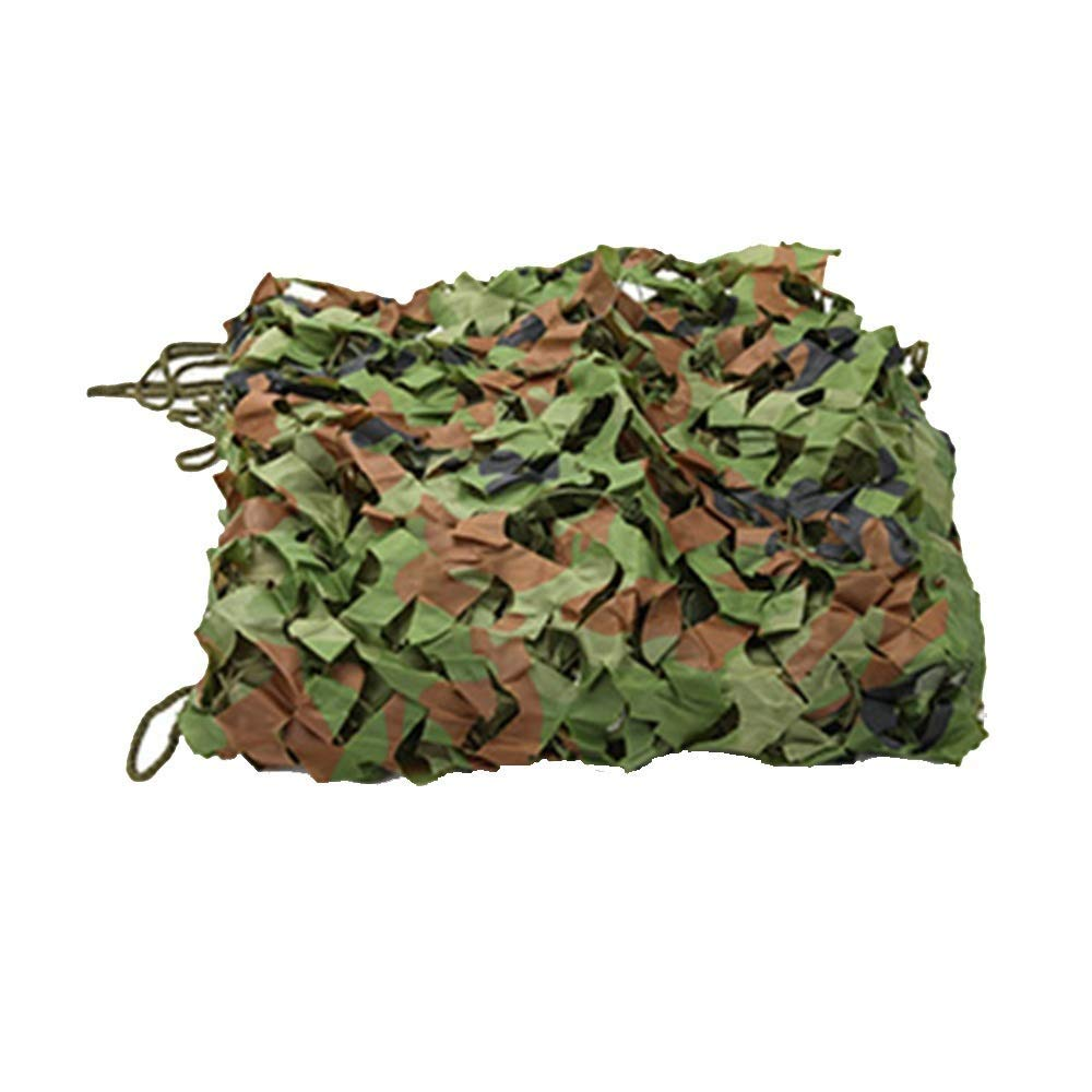 3x6M Outdoor Visor Camouflage Net Camouflage net Camouflage Net Woodland 2x3M Net Light and Durable Shade Decoration Camping Blind Shooting (Size   4x6M) (Size   3x6M)