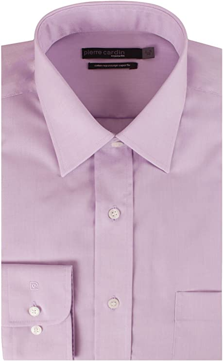 Pierre Cardin - Camisa de Vestir - para Hombre Violet Test XX ...