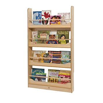 wall mount book shelf in natural uv finish - Wall Hanging Book Shelf