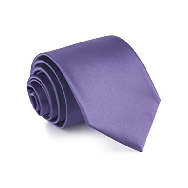 WERLM 8.5 cm de color sólido brillante corbata ancha negocios ...