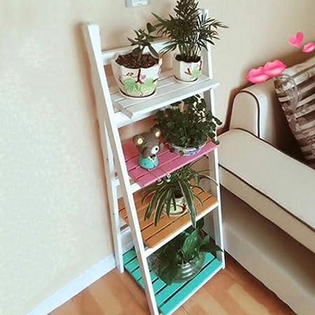 Soporte De Flores Escalera Estantería Decorativas De Plantas Flores Para Decoración Exterior Interior Jardín Baño De Estante,A: Amazon.es: Hogar