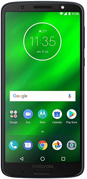 Moto G6 Plus (Indigo Black, 6+64 GB) Smartphones at amazon