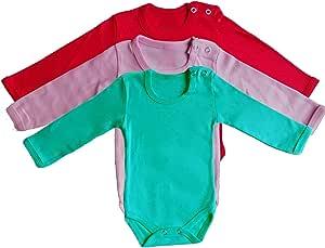 3 Pieces Bodysuit for baby Multi-Color cotton