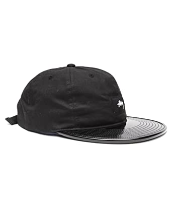 Stussy Mens Patent Leather Visor Adjustable Hat Cap One Size Black at  Amazon Men s Clothing store  d21178dd9a2